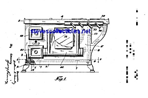 Patent Art: 1920s Grey Cast Iron Toy Stove (Image1)