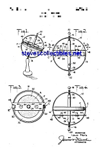 Patent Art: 1930s Marx Gyroscope Toy Top (Image1)