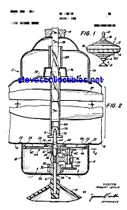 Patent Art: 1930s Chein Spinning Top Toy