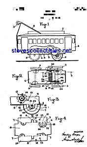 Patent Art: 1920s Chein Streetcar Tin Toy Windup