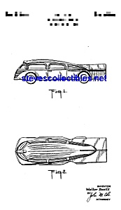 Patent Art: 1930s Manoil Zeppelin Shaped Toy Car (Image1)