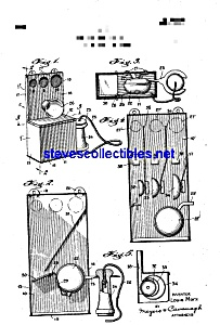 Patent Art: 1920s Marx Toy Telephone Coin Bank