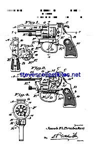 Patent Art: 1930s Hubley Toy Cap Pistol (Image1)