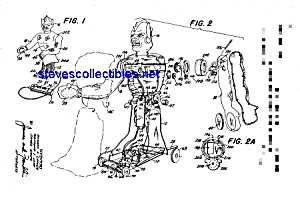 Patent Art: 1960s Marx Great Garloo Robot Monster Toy