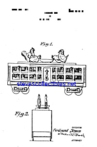 Patent Art: 1920s Strauss Tin Toy Train Car (Image1)