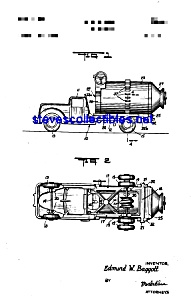 Patent Art: 1950s STRUCTO Cement Mixer Toy (Image1)