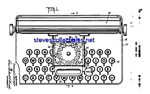 Patent Art: 1950s Toy Typewriter (Image1)