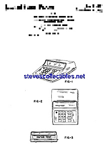 Patent Art: 1970s Electronic Calculator (Image1)