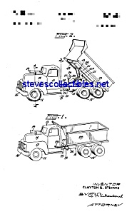 Patent Art: 1950a Dyna-Dump Toy Truck (Image1)