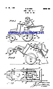 Patent Art: 1930s Marx Character Tin Windup Toy