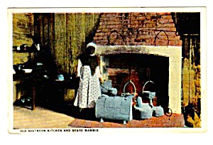 c.1910 OLD SOUTHERN KITCHEN and Negro Mammie  Postcard (Image1)