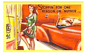 MINT Lot of 3 Vintage PINUP GIRL Humor Linen Postcards (Image1)
