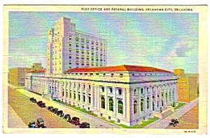 1944 OKLAHOMA CITY, Oklahoma Post Office Postcard (Image1)