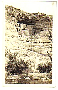 1936 MONTEZUMA CASTLE Arizona Real Photo Postcard (Image1)