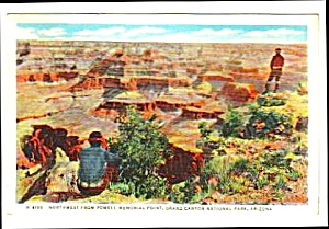 1936 Fred Harvey GRAND CANYON Arizona Postcard (Image1)