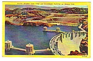 1954 HOOVER (BOULDER) DAM Arizona Linen Postcard (Image1)
