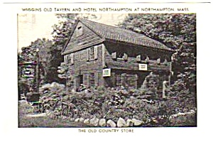 1950s Wiggins Old Tavern & Hotel Northampton Postcard A