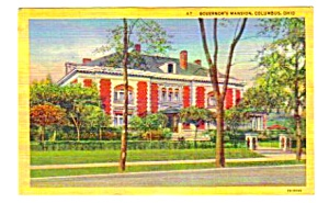 1950 Governor's Mansion, Columbus, Ohio Postcard