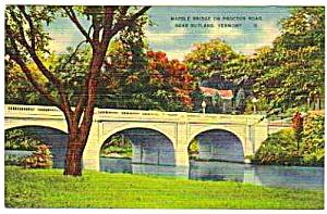 1950 Marble Bridge PROCTOR RD. Rutland Vermont Postcard (Image1)