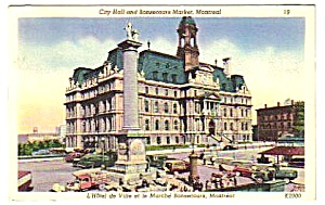 1950 CITY HALL & BONSECOURS MARKET, Montreal Canada PC (Image1)