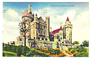 1950 CASA LOMA, Castle, Toronto Ontario Canada Postcard (Image1)