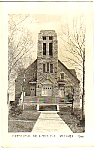 1949 Quebec MAKAMIK CHURCH RPPC Postcard (Image1)