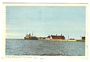 1949 Le Quai, Rimouski QUEBEC Canada Postcard (Image1)