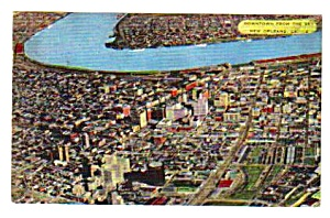 1951 Aerial View Downtown New Orleans, La Postcard