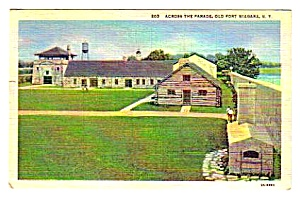 1951 OLD FORT NIAGARA, New York Postcard (Image1)