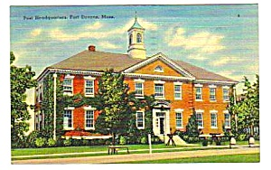 1942 Fort Devens Ayer Massachusetts Linen Postcard