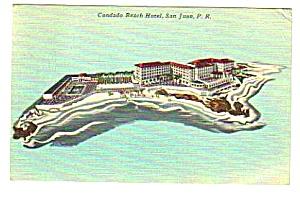 1950s CONDADO BEACH HOTEL San Juan Puerto Rico Postcard (Image1)