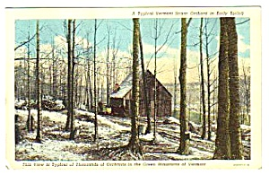 1940s Maple Sugar In Green Mountains Vermont Postcard