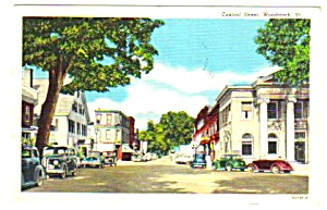 1953 Central Street, Woodstock, Vermont Postcard