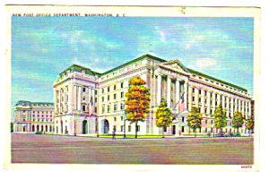 1937 WASHINGTON D.C. Post Office Department Postcard (Image1)