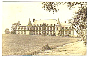 1935 Chateau, Middlebury College, Vermont Rppc Postcard