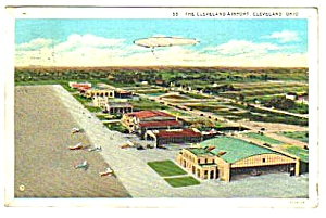 1932 Cleveland Airport, Ohio Postcard