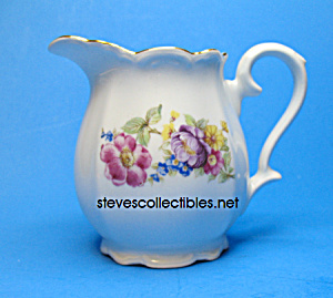 Beautiful 1940s BAREUTHER BAVARIA Floral Creamer (Image1)