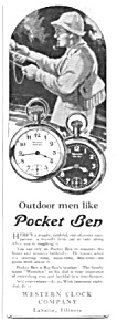 1927 POCKET BEN Westclox Watch Ad (Image1)