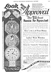 1927 SANTA FE Special Pocket Watch Ad (Image1)