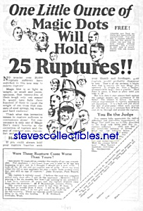 1927 MAGIC DOT Rupture QUACK CURE Ad (Image1)