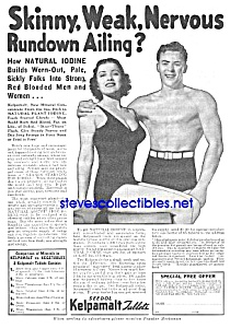 1936 Don't Be Skinny Magic Muscle Cure Ad
