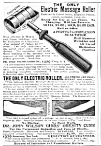 1902 Electric Massage Quack Device Obesity Cure Ad