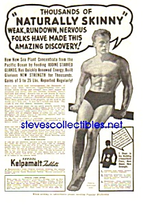 1937 Don't Be Skinny Magic Muscle Cure Ad