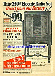1914 PACKARD 8 Tube RADIO Magazine Ad (Image1)