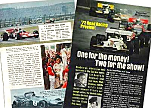 1972 ROAD RACING PREVIEW-AUTO RACING Mag Article (Image1)