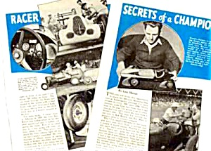 1940  AUTO RACING INDIANAPOLIS Mag Article - LOU MEYER (Image1)