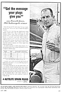 1965 AUTO RACING - Parnelli Jones 1963 Indy Winner Ad (Image1)