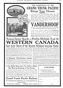 1914 GRAND TRUNK PACIFIC RAILWAY Vanderhoof AD (Image1)