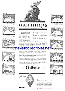 1929 GILLETTE SAFETY RAZOR - Shaving Ad (Image1)