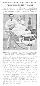 1920 BARBER SHOP CHAIR  Magazine Article (Image1)